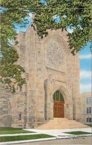 Kalamazoo Michigan~6 Petal Window~Facade of Presbyterian Church~1940s Postcard