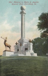 HARRISBURG, PA, 1907; Elks' Memorial to Meade D. Deweiler, Reservoir Park