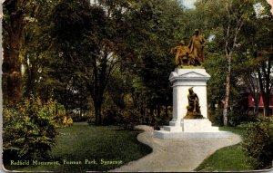 New York Syracuse Forman Park Redfield Monument 1910