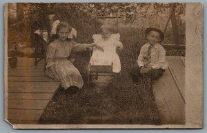 Postcard RPPC c1910s United States Named Children Katherine Howard & Frank Ward