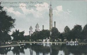 Michigan Detroit Waterworks Pumping Station & Tower Gladwin Park