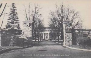 Michigan Chelsea Entrance To Methodist Home Artvue