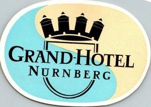 Germany Nuernberg Grand Hotel Vintage Luggage Label sk4766