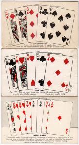 3 Cards - Ladies, Men's & Gentlemens Cards