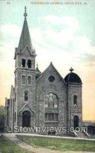 Norwegian Church  Sioux City IA Unused
