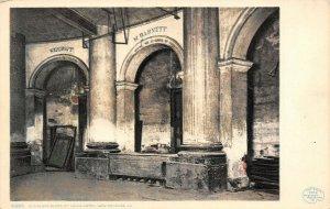 LP69   New Orleans Louisiana Old Slave Block Hotel Detroit Publishing Postcard
