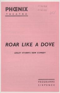 Roar Like A Dove John McCallum Comedy Jean Dixon Theatre Programme