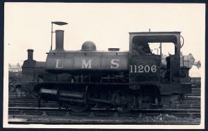 LONDON MIDLAND SCOTTS Railroad Locomotive #11206 RPPC unused