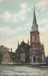 Shelbyville Indiana~Presbyterian Church And Parsonage?~1908 Postcard