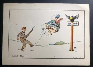 Mint England Picture Postcard WW2 Good Bye To Berlin !