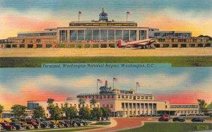 Terminal, Washington National Airport, Washington, D.C., Linen Postcard, Unused