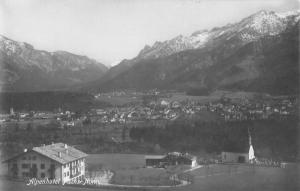 Bad Reichenhall Germany Birdseye View Of City Real Photo Antique Postcard K69478