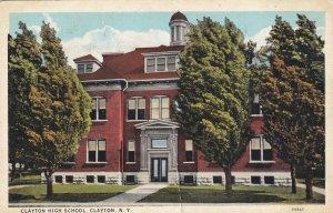 CLAYTON, New York, 1900-10s; Clayton High School