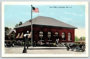 Columbia Missouri~Little Old Post Office in City of Only 12,000*~Cornices 1920s