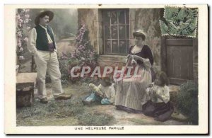 Old Postcard Fantasy Children Doll A happy family
