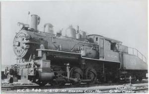 RPPC of Kansas City Southern #99 0-6-0 Steam Locomotive, Kodak Paper RP