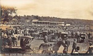 Athol MA Fair 1912 Photo by Schuts Horse & Wagons RPPC Postcard