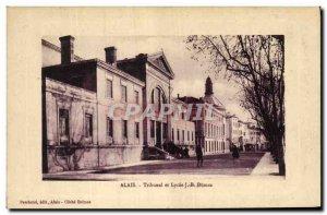 Old Postcard Alais Tribunal and Lycee JB Dumas Courthouse