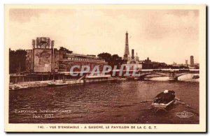 Postcard Old Paris International Exhibition 1937 View D & # 39Ensemble Left A...