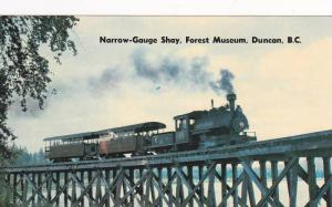 Narrow-Gauge Shay Train, Forest Museum , DUNCAN, B.C.  , Canada , 50-60s