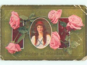 Divided-Back PRETTY WOMAN Risque Interest Postcard AA7827