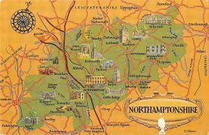 B103428 northamptonshire map cartes geographiques    uk