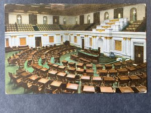 Senate Chambers U.S. Capitol Washington DC Litho Postcard H1204085759