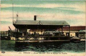 CPA AK Toulon Arsenal Maritime Poste du Reglages SHIPS (755124)