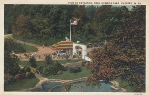 CHESTER, West Virginia, 1910s; View of Entrance, Rock Springs Park