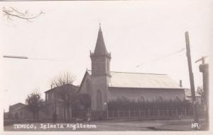 Temuco Iglesia Anglicana Real Photo Chile Old Postcard