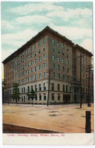 1901-07 Scranton PA The Sterling Hotel Lackawanna County RARE EARLY UDB Postcard
