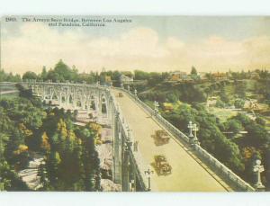 Divided-Back BRIDGE SCENE Pasadena - Los Angeles California CA HJ1557