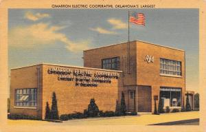 Kingfisher Oklahoma~CImarron Electric Cooperative~Art Deco Building~1955 Linen