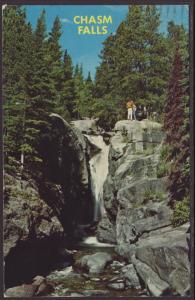 Chasm Falls,Rocky Mountain National Park Postcard BIN