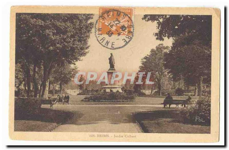 Rheims Vintage Postcard Colbert Garden / HipPostcard