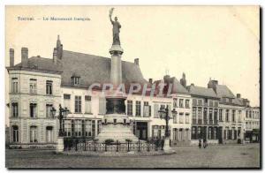 Old Postcard Tournai French Monument