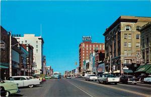 Vintage Postcard; Garrison Ave Looking West, Fort Smith AR Sebastian Co Unposted