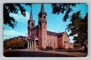 Spokane WA- Washington, Gonzaga College, St Aloysius Church, Chrome Postcard