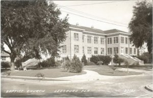 Baptist Church Leesburg Florida 1930 - 1950 Real Photograph Postcard RPPC