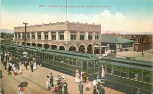 C-1910 Electric Train railroad Venice California Postcard Mitchell 3127