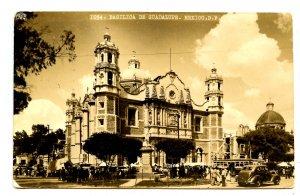 Mexico - Mexico City. Basilica de Guadalupe, Street Scene  *RPPC