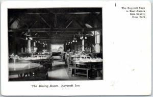 East Aurora, New York PMC Postcard  ROYCROFT INN Dining Room View c1900s Unused