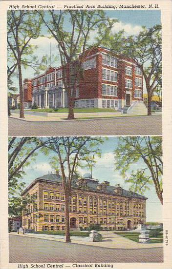 New Hampshire Manchester High School Central Practical Arts Building High Sch...