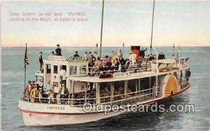 Glass Bottom Power Boat Empress Catalina Island, CA Ship Unused