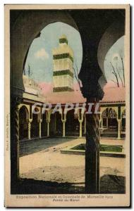 Old Postcard Marseille National Exhibition and 1922 Colonial Palace Morocco