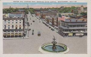 Alabama Montgomery Dexter Ave Looking East Showing State Capitol