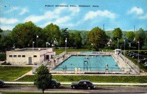 Ohio Fremont Public Swimming Pool 1945
