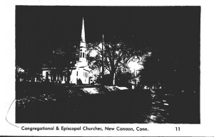 Connecticut New Canaan Congregational & Episcopal Churches 1956 Real Photo