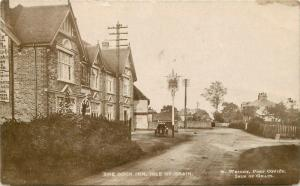 1920s Isle of Grain Kent UK Cock Inn Pub Motorcycle Wright Photo RPPC