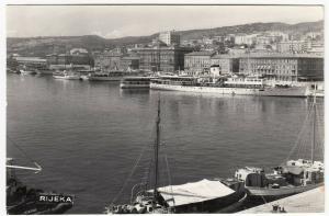 Croatia; Shipping At Docks, Rijeka RP PPC Unposted, c 1950's